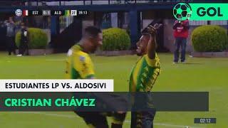 Cristian Chávez (0-2) Estudiantes LP vs Aldosivi | Fecha 5 - Superliga Argentina 2018/2019