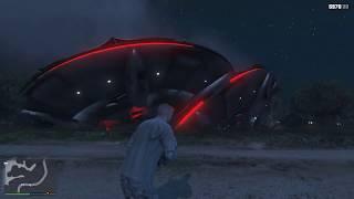 gta 5: Корабль пришельцев разбился около военной базы