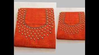 Most Elegant and Simple Designing with Normal Stitching NEEDLE -Same Like Aari/Maggam work