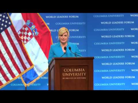 President Kolinda Grabar-Kitarović of Croatia - Columbia World Leaders Forum