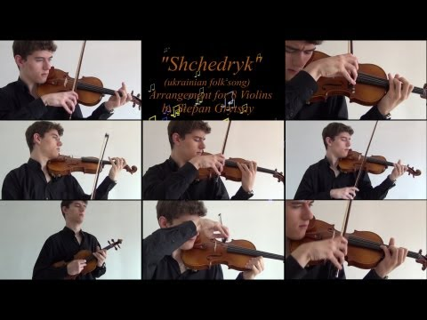 """Shchedryk"" A.K.A ""Carol of The Bells"" [8 violins]"