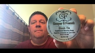Shaving Realtor #11 Cooper & French Black Tie Review