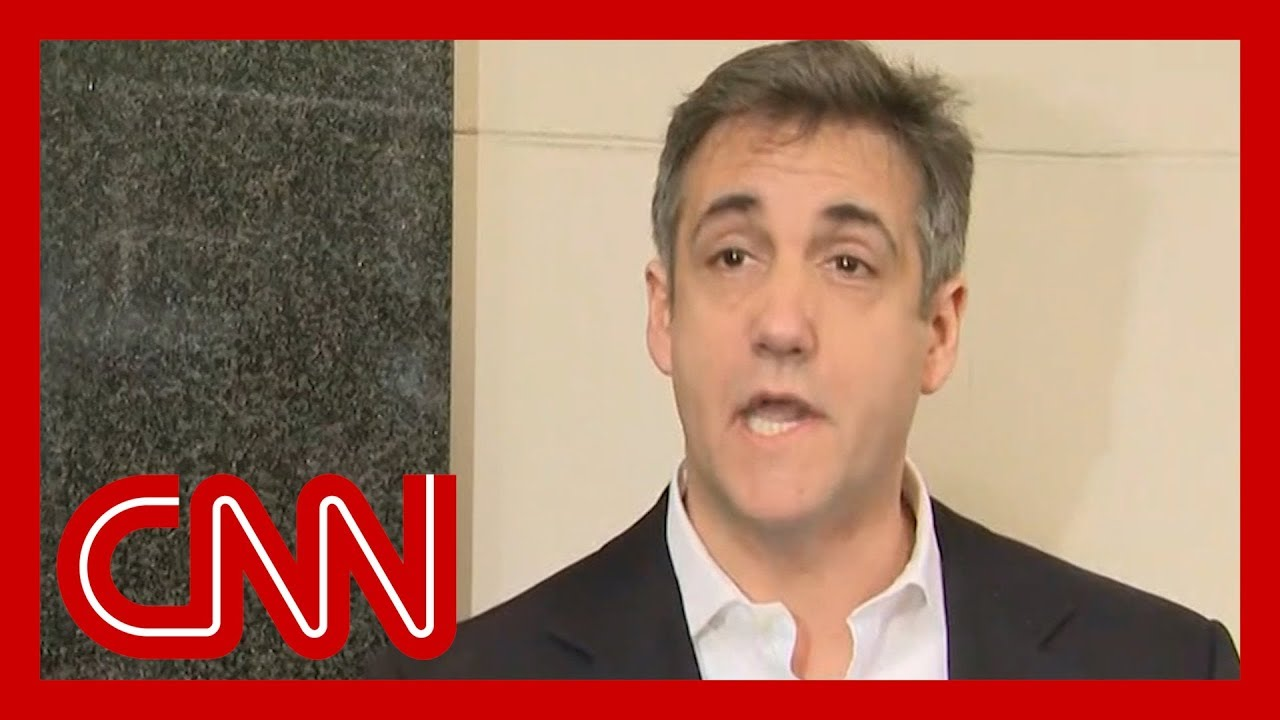 Michael Cohen speaks before departing for prison