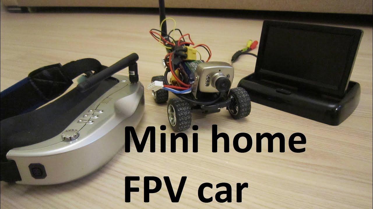 Mini RC FPV car 5.8Ghz, ездим по камере на машинке по дому .