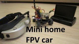 Mini RC FPV car 5.8Ghz, ездим по камере на машинке по дому, Banggood