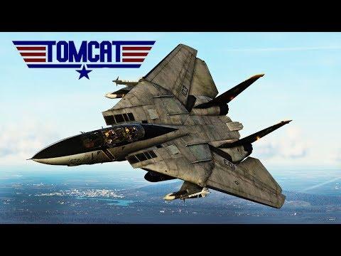 DCS: Iranian F-14 Tomcat Vs American F-14 Tomcat BVR Combat With The Aim-54 Phoenix