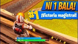 INCREIBLE! No me dan NI 1 BALA en TODA la PARTIDA! Fortnite: Battle Royale