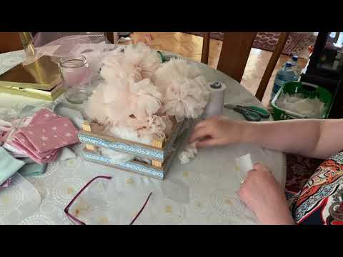 Çok kolay tül ponpon yapımı #DIY