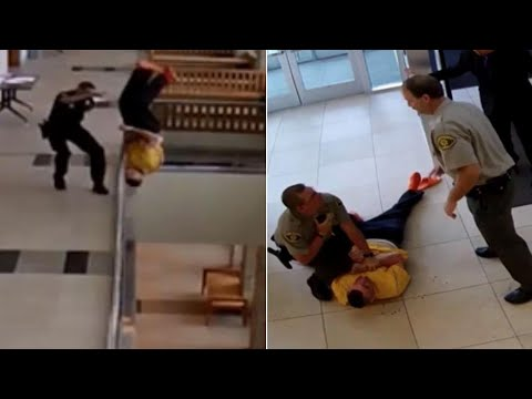 Handcuffed Man Injured After Jumping Off Courthouse Balcony