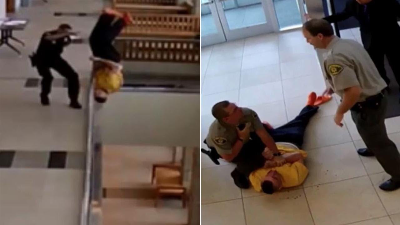 ניסיון בריחה כושל: גבר כבול באזיקים קופץ מהקומה השנייה ומתרסק