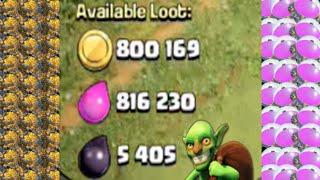 Clash of Clans - Insane Loot Raids! Over 1 Million Loot off of MAXED Base & NEW MIC!!