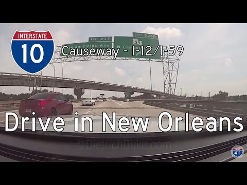Interstate 10 - Mile 228 - Mile 267 - Louisiana | Drive America