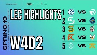 LEC Highlights ALL GAMES Week 4 Day 2 Spring 2019 | W4D2 League of Legends European Championship