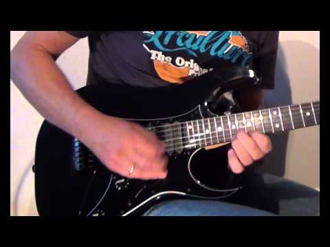 Demo - modified  Ibanez RG550 with  Dimarzio Super 3 (high output)