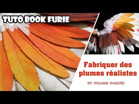 Cosplay Tutorial : Make feathers with evafoam  [FR/ENG]
