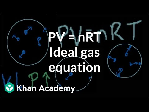 Ideal gas equation: PV = nRT | Chemistry | Khan Academy