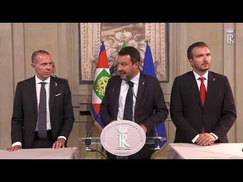 Roma - Consultazioni. Lega Salvini premier (22.08.19)