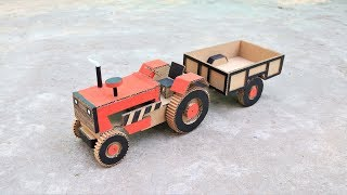 How To Make RC Tractor Trolley From Cardboard