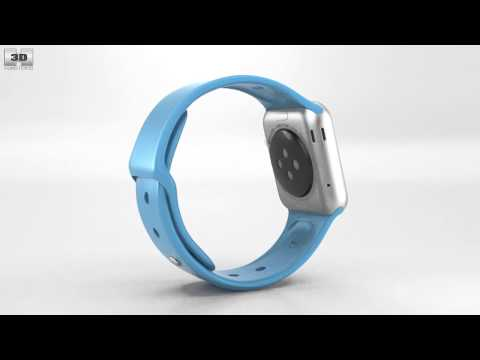 apple-watch-sport-38mm-silver-aluminum-case-blue-sport-band-by-3d-model-store-humster3d.com