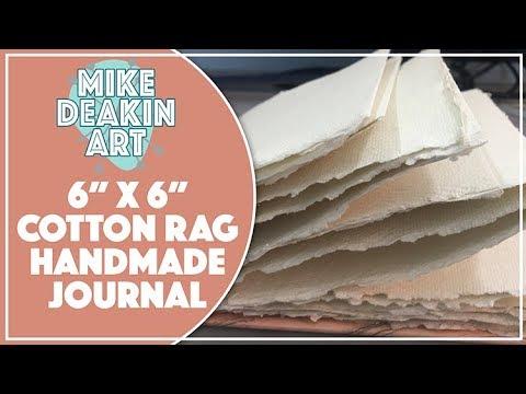 "6""x6"" Cotton Rag Handmade Watercolour Journal"