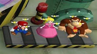 Mario Party 4 MiniGames - Luigi Vs Mario Vs Peach Vs Donkey Kong (Master CPU)