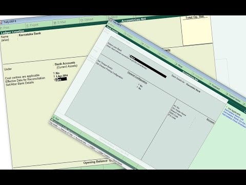 Create SB,Current,OD(Checking Account) Bank Ledger in Tally ERP 9