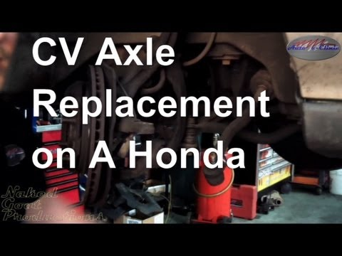 How to Replace an Axle Shaft ( CV Joint, Half Shaft) Honda ...