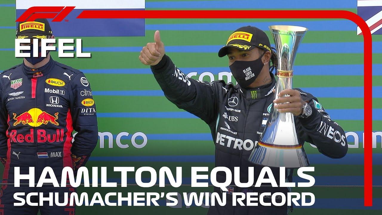 F1 2020: Lewis Hamilton equals Michael Schumacher's record of ...
