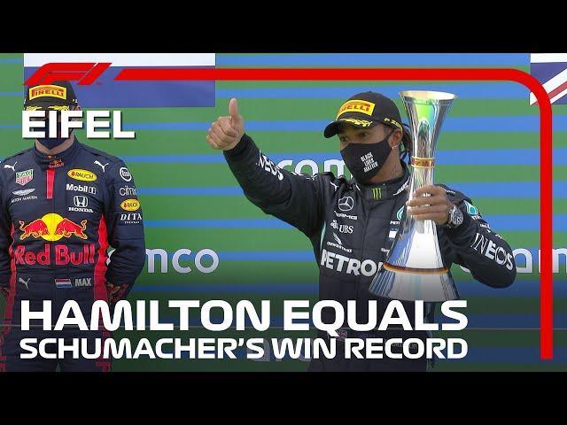 Lewis Hamilton Matches Michael Schumacher's Incredible Win Record | 2020 Eifel Grand Prix