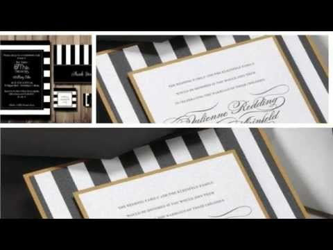 Great Black And White Striped Wedding Invitations 2015
