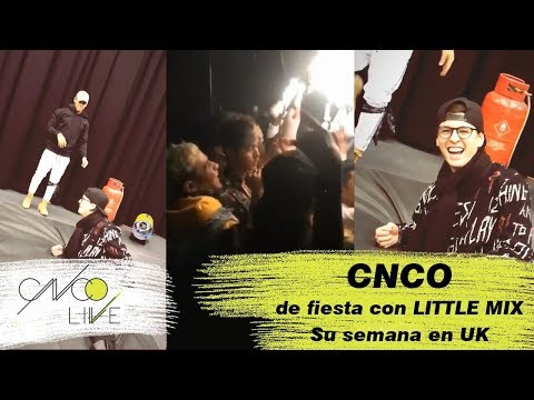 RICHARD casi mata a CHRIS + De fiesta con Little Mix (JOEL CHRIS y RICHARD) | CNCO EN UK (ENG SUB)