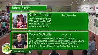 Pickleball Global Challenge Cup 2018   Match 5   Mixed Doubles   Kyle Yates   Irina Tereschenko VS T