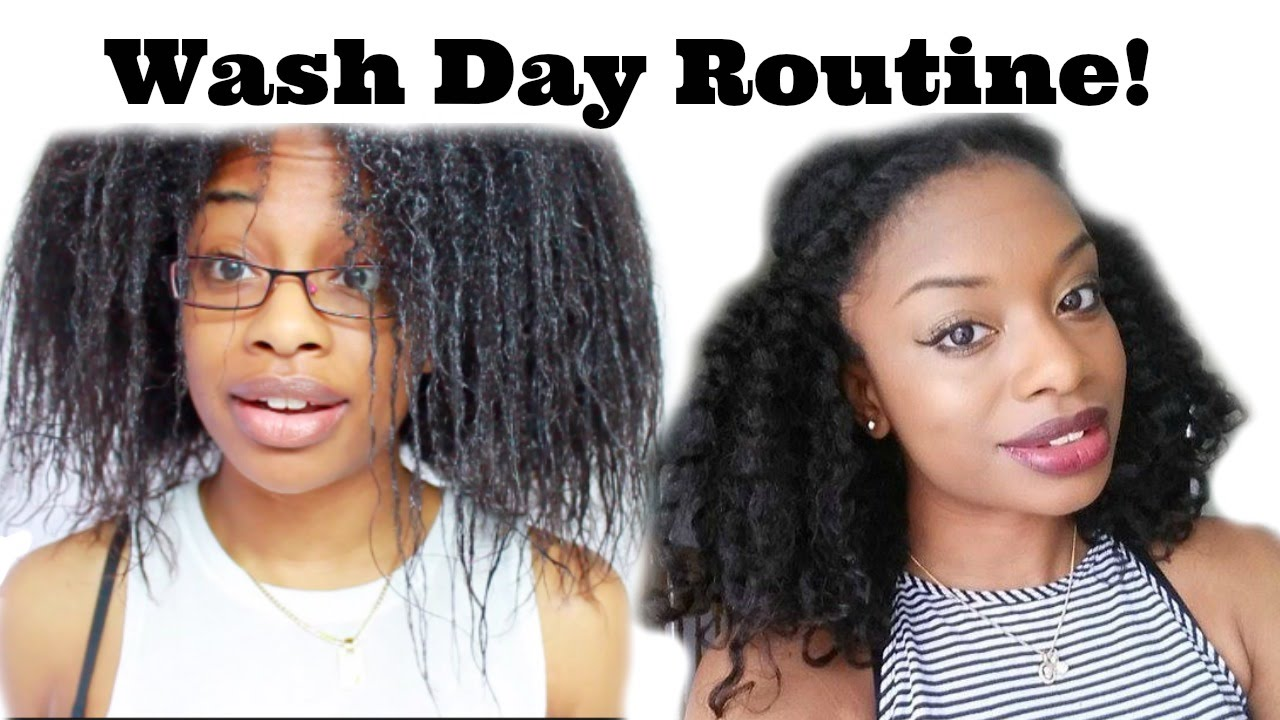 Wash Transitioning To Natural Hair - YouTube