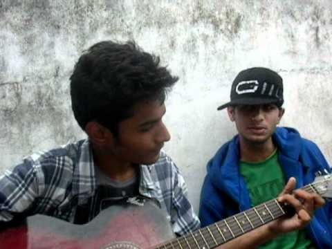 Saurabh And Ashray With Their Self Prepared Song