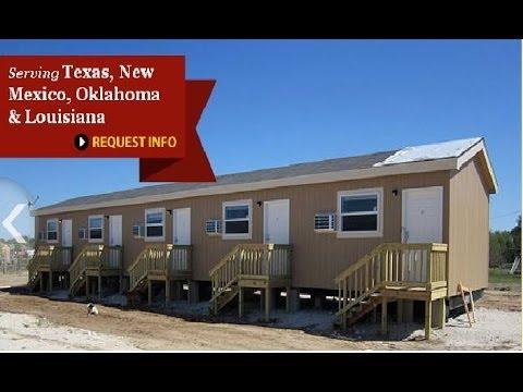 Mini motels oilfield housing commercial buildings in tx for Prefab 4 plex
