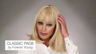 The classic page wig by forever young is a layered bob with full bangs and heat friendly fiber. bang frames face can be trimmed or pushed to...