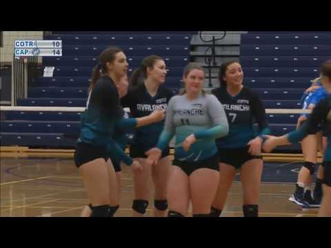 Capilano Blues vs COTR Avalanche - 2017 PACWEST Women's Volleyball Championship Finals Bronze Medal