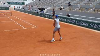 Roland-Garros 2019 : Nadal The Butcher vs. Carreno Busta (Practice points Court Level View)