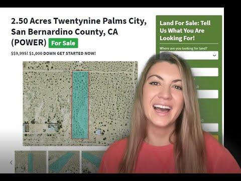 5 Acres TwentyNine Palms City (POWER) Property for Sale in San Bernardino