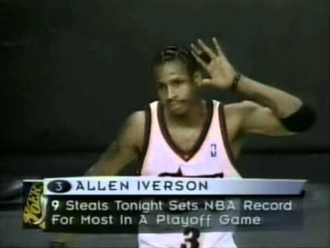 NBA Playoffs Record - Allen Iverson with 10 Steals (1999)