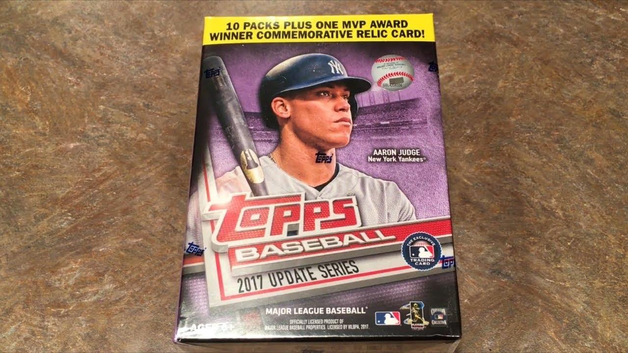2017 Topps Update Baseball Cards Blaster Box Break Opening Packs