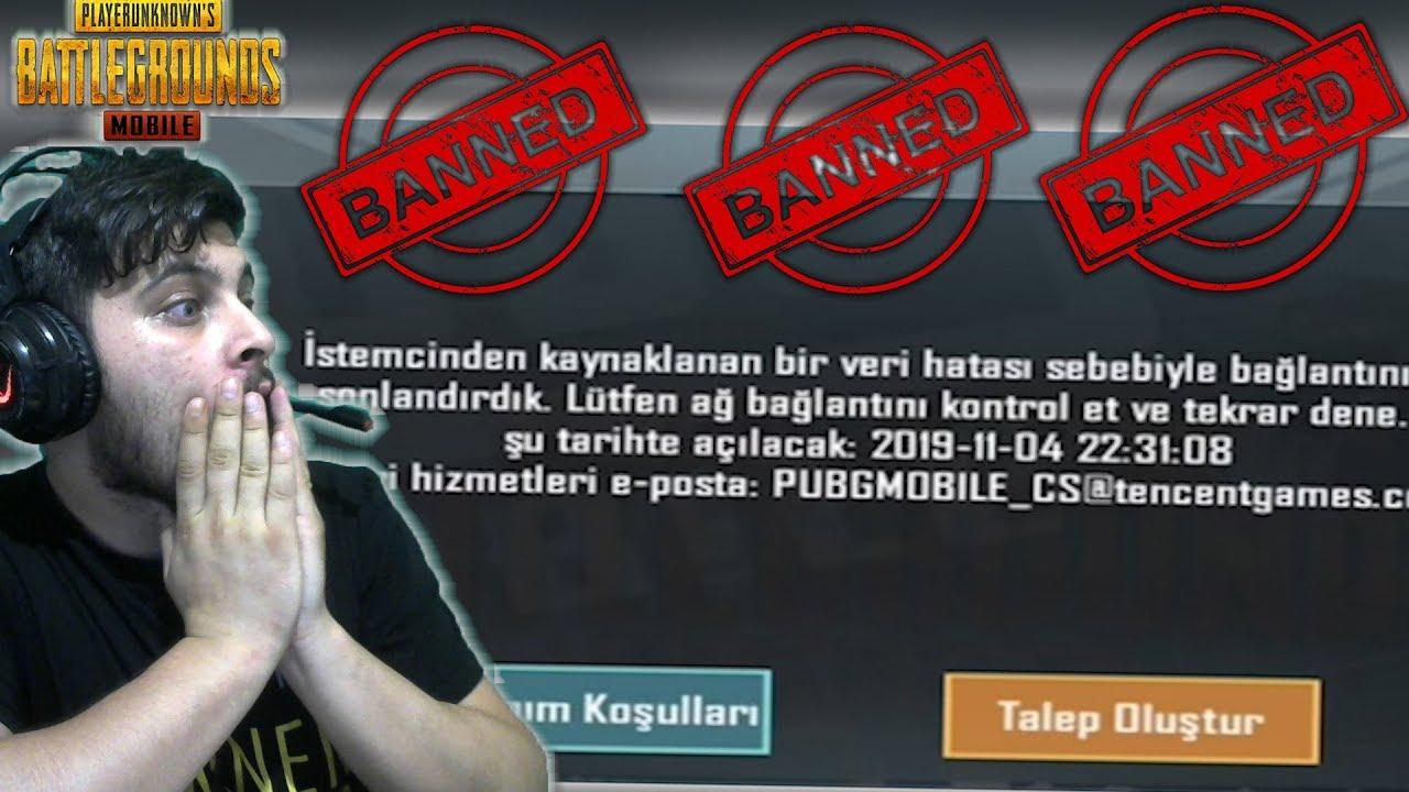 BAN YEDİM! HİLE Mİ KULLANIYORUM? - PUBG Mobile Veri Değişimi Banned