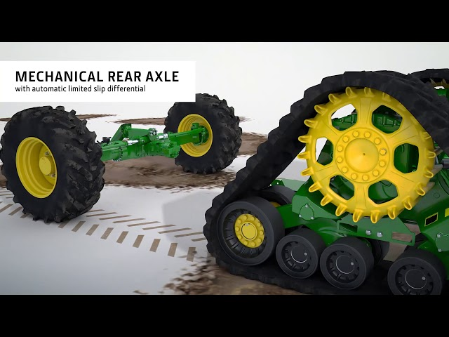 John Deere Four-wheel drive with traction control animation