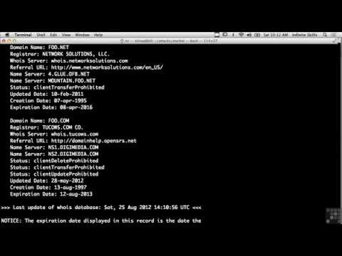 14. Whois Lookups Using