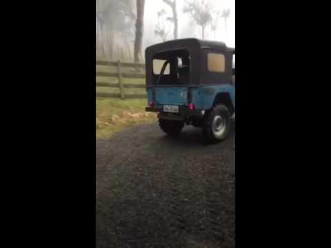 Jeep willys 6cc escapamento direto