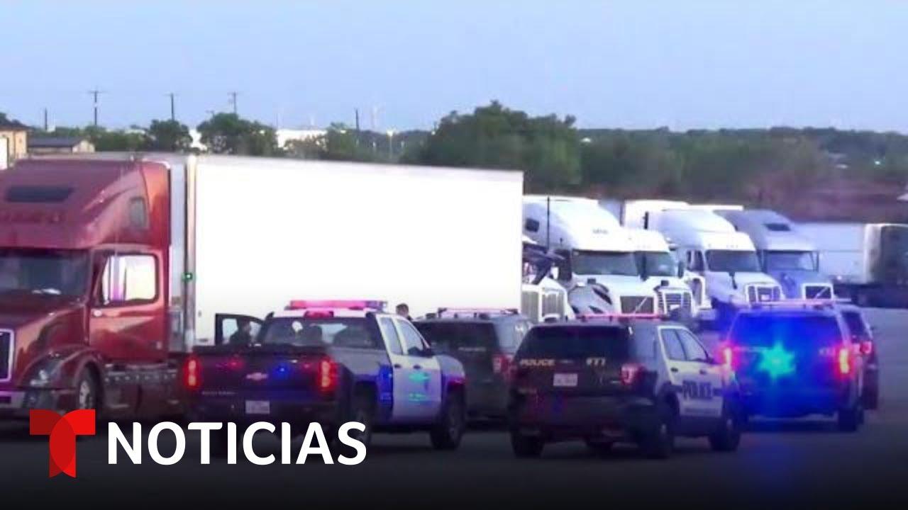 Interceptan un camión que llevaba de 80 a 100 inmigrantes en San Antonio, Texas | Noticias Telemundo