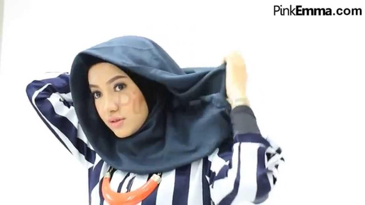 Tutorial Hijab Segi Empat Dengan Drapery Style YouTube