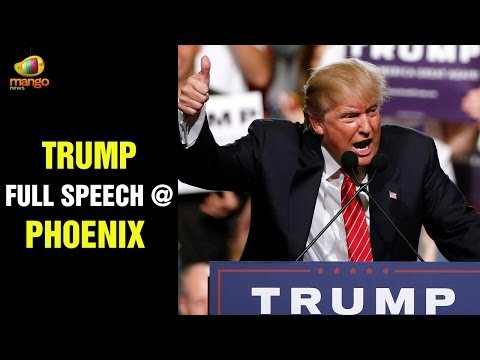 Donald Trump Full Speech at Phoenix Convention Center | US President Obama Incompetent