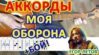 моя оборона Аккорды  Егор Летов Гражданская Оборона  Разбор песни на гитаре  Бой Текст