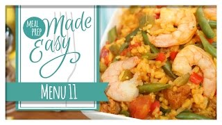 Healthy Meal Prep | Menu 11 | Shrimp Paella, Chilled Gazpacho, Mini Frittatas